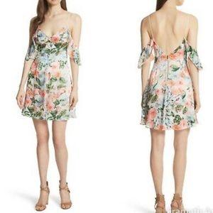 Alice + Olivia floral fields silk blend dress